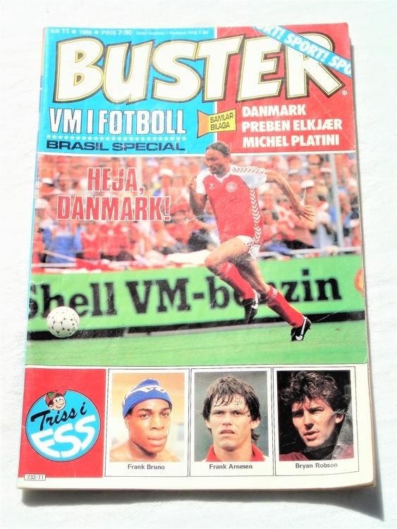 Buster nr 11 1986 semic,bra skick,normalsliten,veck första sidan