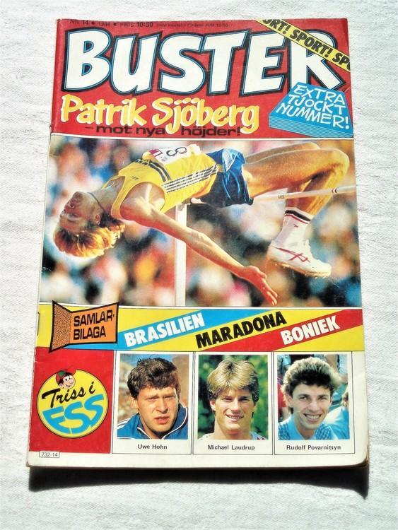 Buster nr 14 1986 semic,bra skick,normalsliten