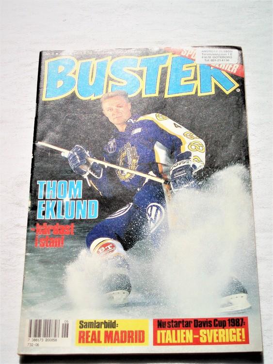 Buster nr 6 1987 semic,bra skick,normalsliten
