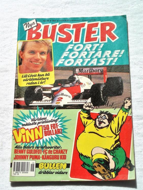 Buster nr 16 1987 semic,bra skick,normalsliten