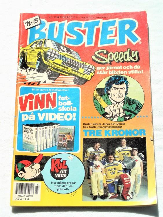 Buster nr 13 1988 semic,bra skick,normalsliten