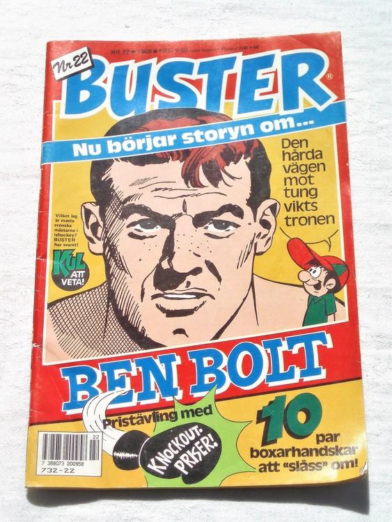Buster nr 22 1988 semic bra skick normalsliten