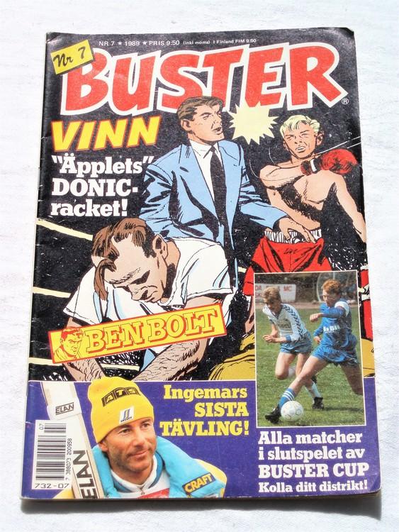 Buster nr 7 1989 semic bra skick normalsliten