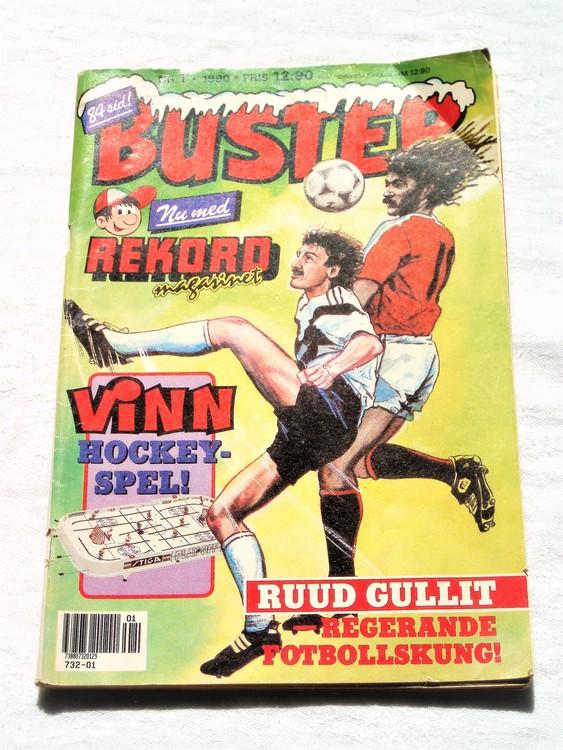 Buster nr 1 1990 semic bra skick normalsliten förstasidan veck
