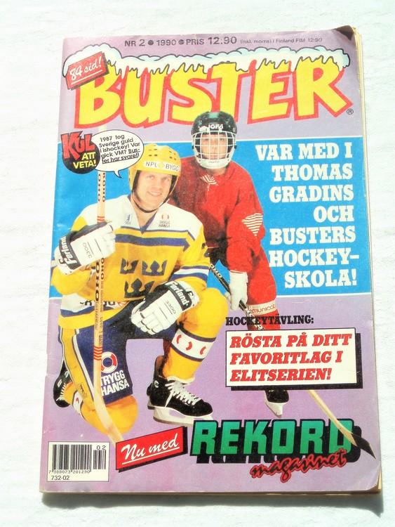 Buster nr 2 1990 semic bra skick normalsliten första sidan veck