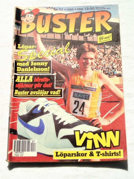 Buster nr 17 1990 semic,bra skick,normalsliten
