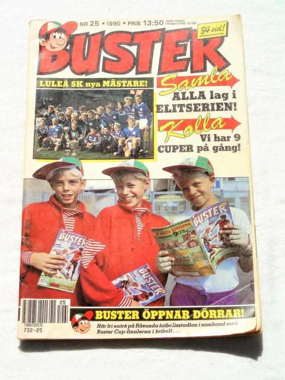 Buster nr 25 1990 semic,bra skick,normalsliten