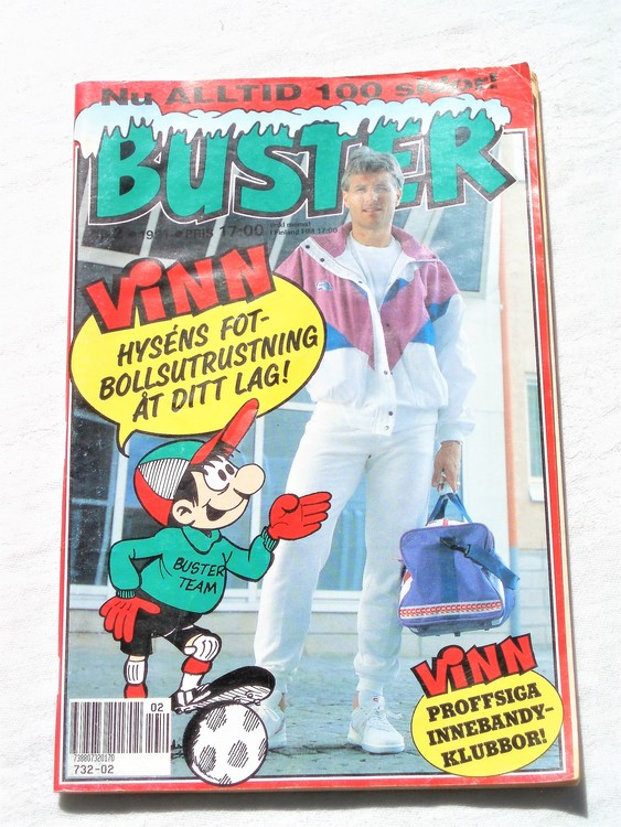 Buster nr 2 1991 semic,bra skick,normalsliten