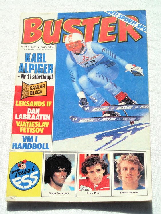 Buster nr 4 1986 Semic bättre skick normalsliten