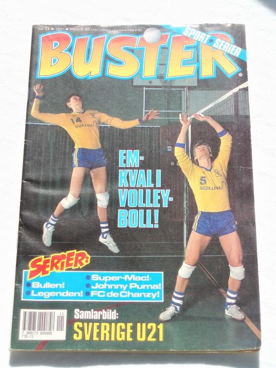 Buster nr 11 1987 Semic,bättre skick,normalsliten,prenumerations etiket