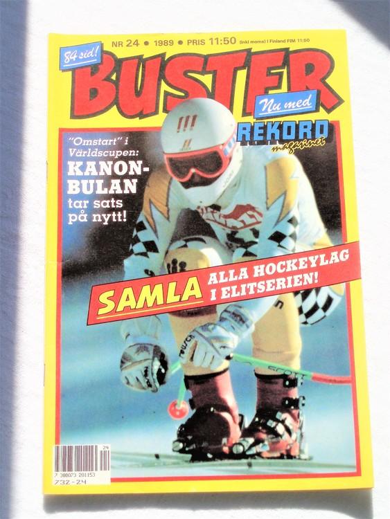 Buster nr 24 1989 semi ,bättre skick normalsliten lite skönhetsfel