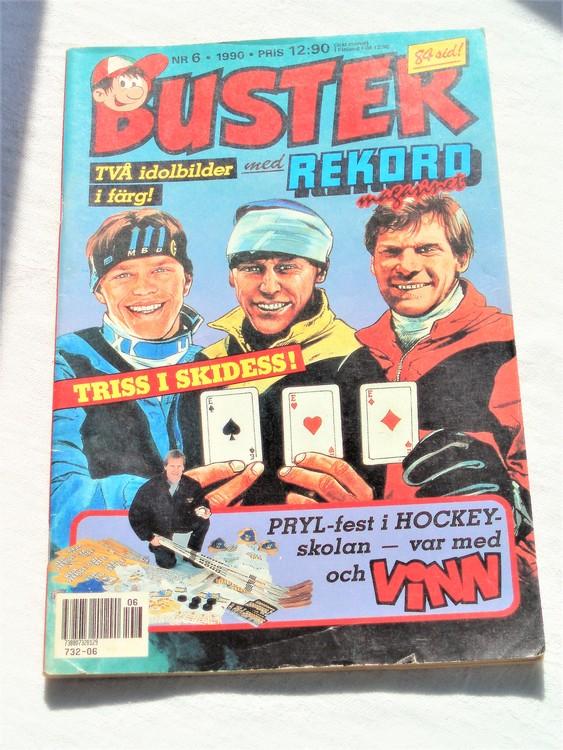 Buster nr 6 1990 Semic,bättre skick,lite skönhetsfel,annars som ny.
