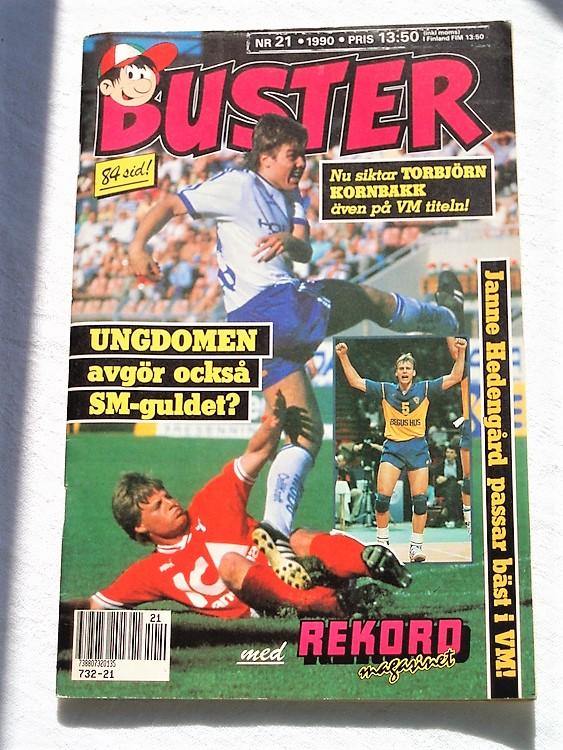 Buster nr21,1990 Semic,bättre skick,normalsliten,prenum erations etiket