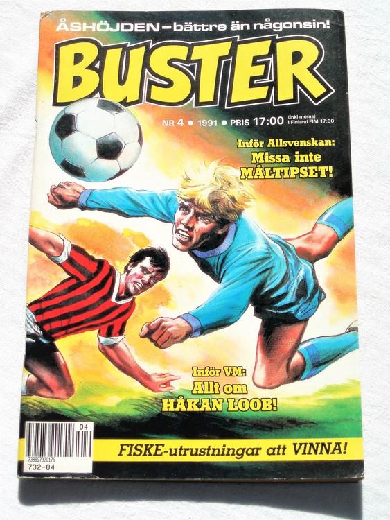 Buster nr 4 1991 Semic,bättre skick,normalsliten,lite skönhetsfel.annars som ny.