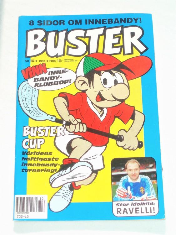 Buster nr 10 1991 Semic,bättre skick,normalsliten,lite skönhetsfel,som ny.