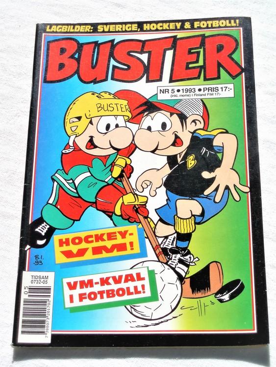 Buster nr 5 1993 semic,bättre skick,normalsliten,lite skönhetsfel
