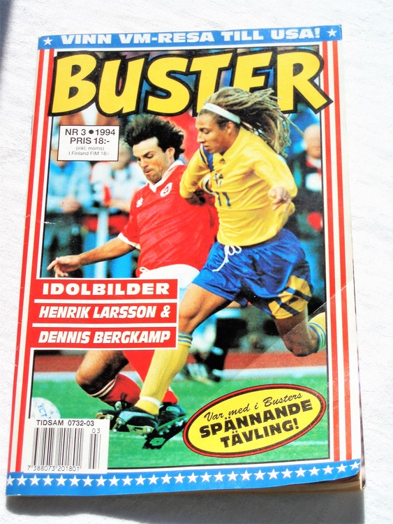 Buster nr3,1994 semic,bättre skick,normalsliten,några sidor med veck