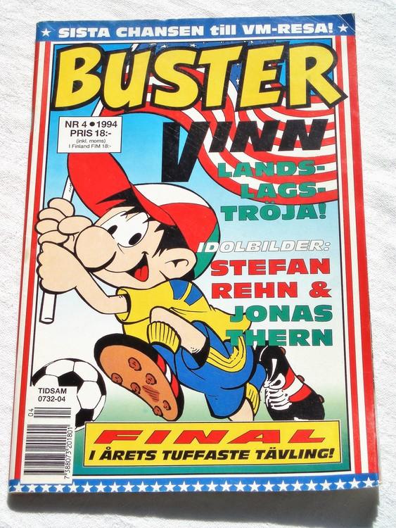 Buster nr 4,1994 semic,bättre skick,normalsliten,normalskick