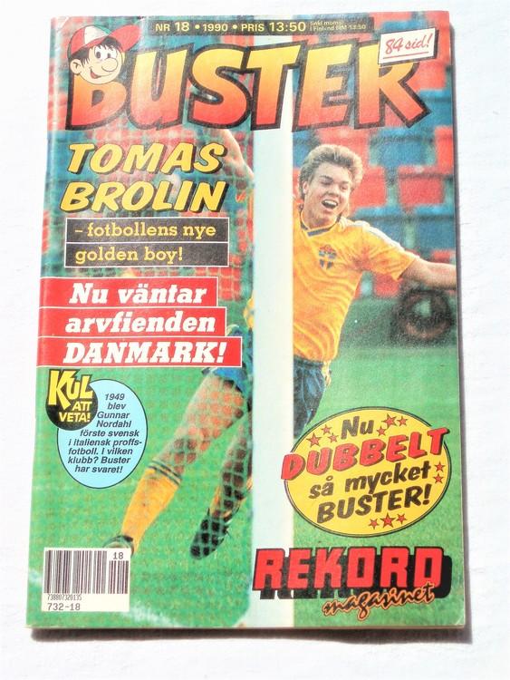 Buster nr 18 1990 Semic, mycket bra skick,normalsliten