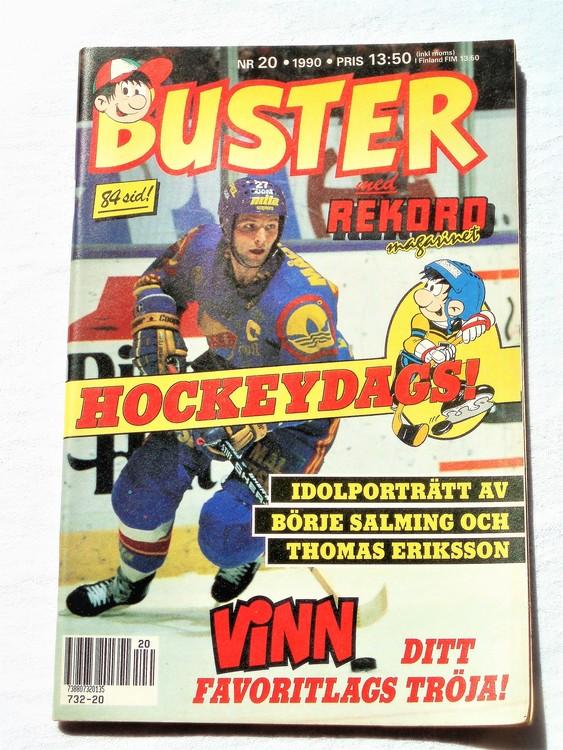 Buster nr 20 1990 Semic, mycket bra skick,normalsliten