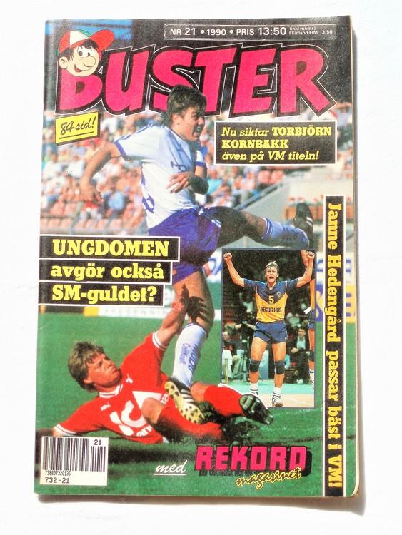 Buster nr 21 1990 Semic, mycket bra skick,normalsliten