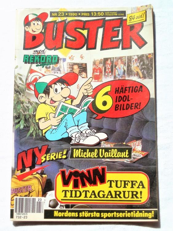 Buster nr 23 1990 Semic, mycket bra skick,normalsliten
