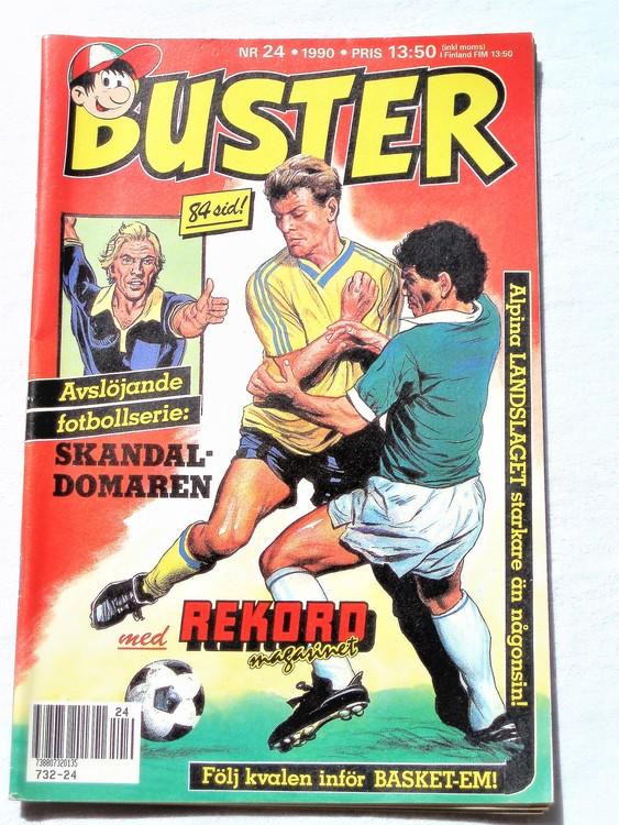 Buster nr 24 1990 Semic, mycket bra skick,normalsliten