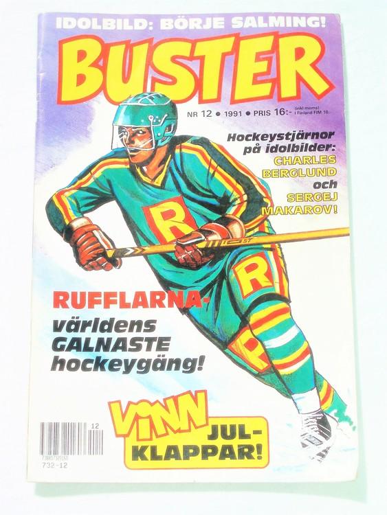 Buster nr 12 1991 Semic, mycket bra skick,normalsliten