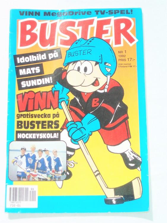 Buster nr 1 1992 Semic, mycket bra skick,normalsliten