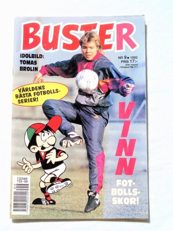 Buster nr 9 1992 Semic, mycket bra skick,normalsliten