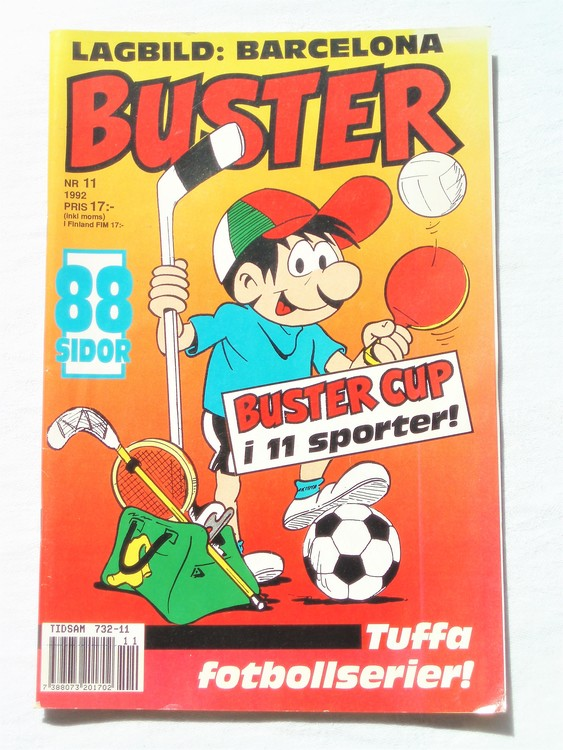 Buster nr 11 1992 Semic, mycket bra skick,normalsliten