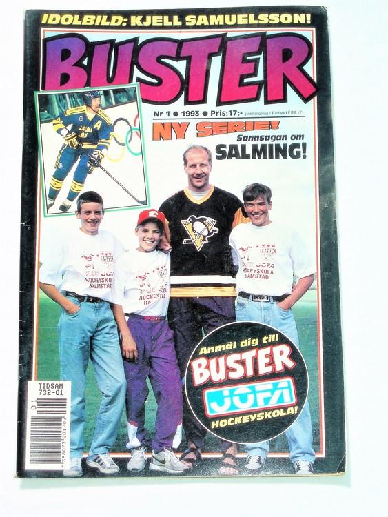 Buster nr 1, 1993 Semic, mycket bra skick,normalsliten