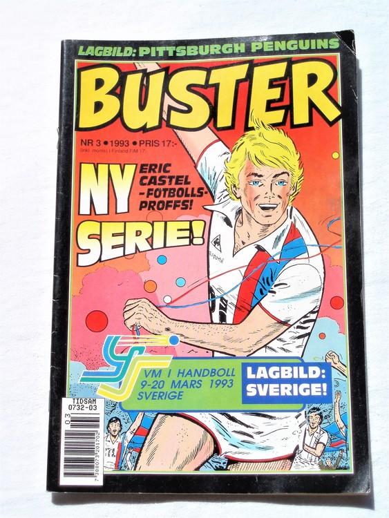 Buster nr 3 1993 Semic, mycket bra skick,normalsliten