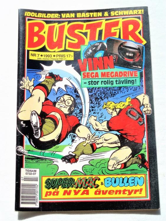 Buster nr 7 1993 Semic, mycket bra skick,normalsliten