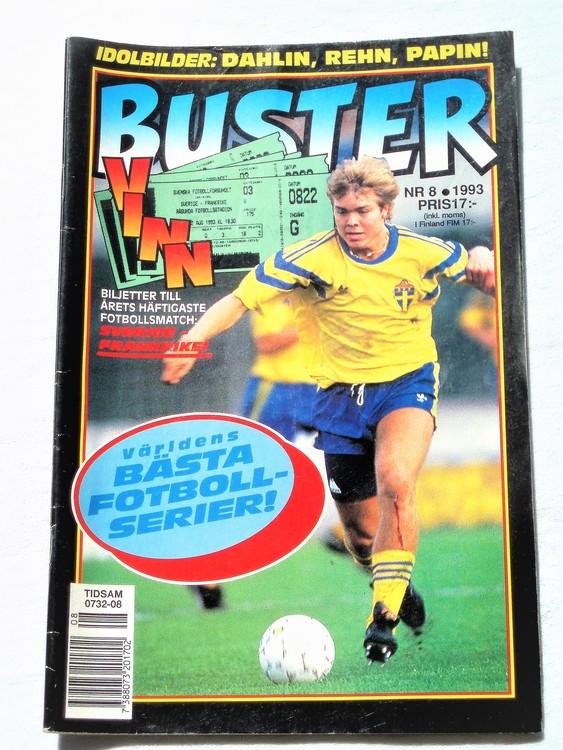 Buster nr 8 1993 Semic, mycket bra skick,normalsliten