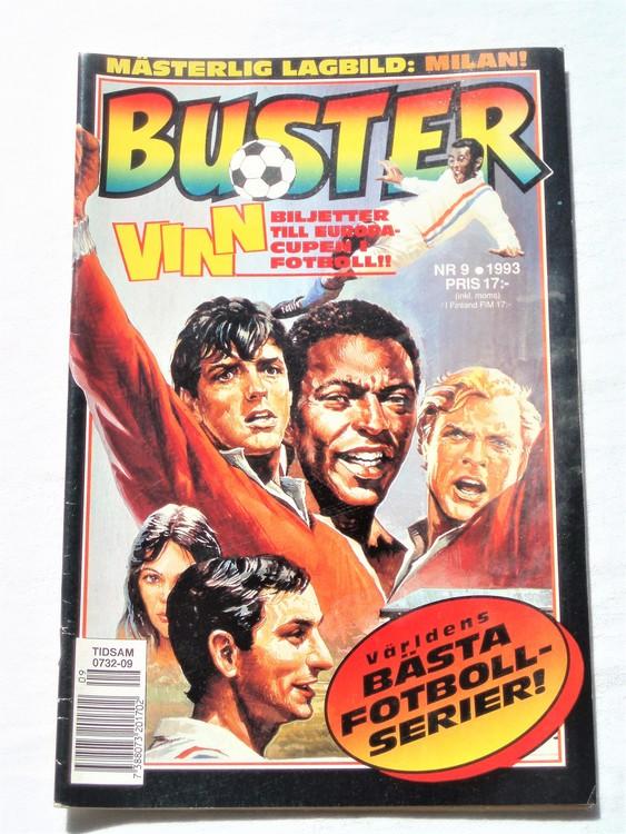Buster nr 9 1993 Semic, mycket bra skick,normalsliten