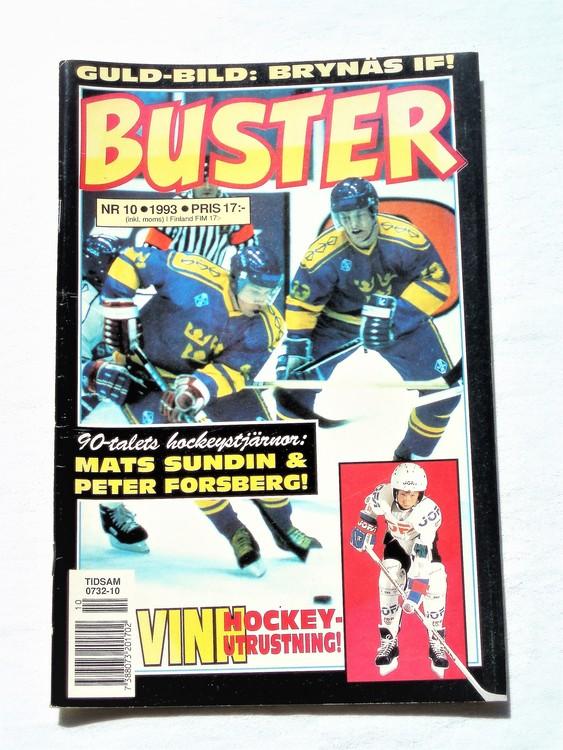 Buster nr 10 1993 Semic, mycket bra skick,normalsliten