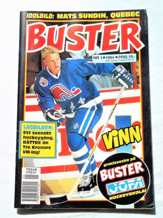 Buster nr 1, 1994 Semic, mycket bra skick,normalsliten