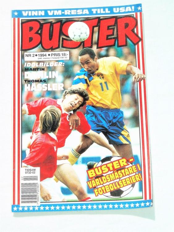Buster nr 2 1994 Semic, mycket bra skick,normalsliten