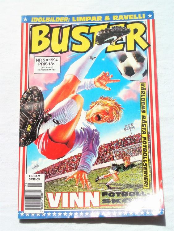 Buster nr 5 1994 Semic, mycket bra skick,normalsliten