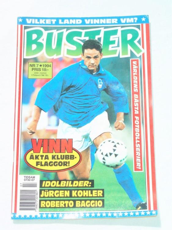 Buster nr 7 1994 Semic, mycket bra skick,normalsliten