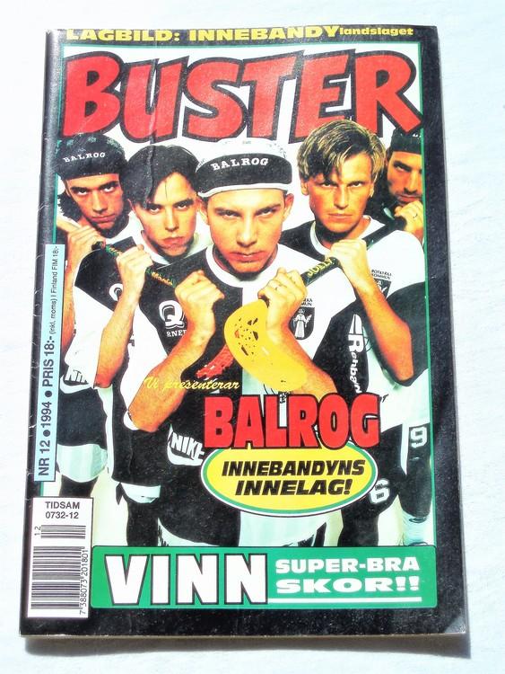 Buster nr 12 1994 Semic, mycket bra skick,normalsliten