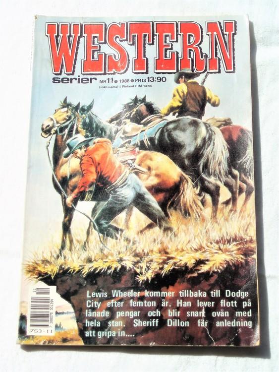 Western nr 11 1988 normalskick, normalslitet, bra skick