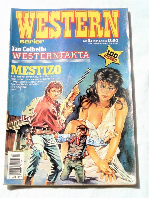 Western nr 9 1988 normalskick, normalslitet, bra skick