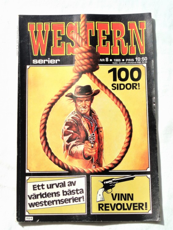 Western nr 8 1985 normalskick,normalslitet,bra skick.