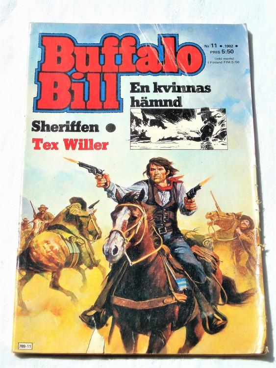 Buffalo Bill nr 11 1982 normalskick, normalslitet