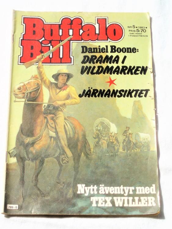 Buffalo Bill nr 5 1983 normalskick, normalslitet