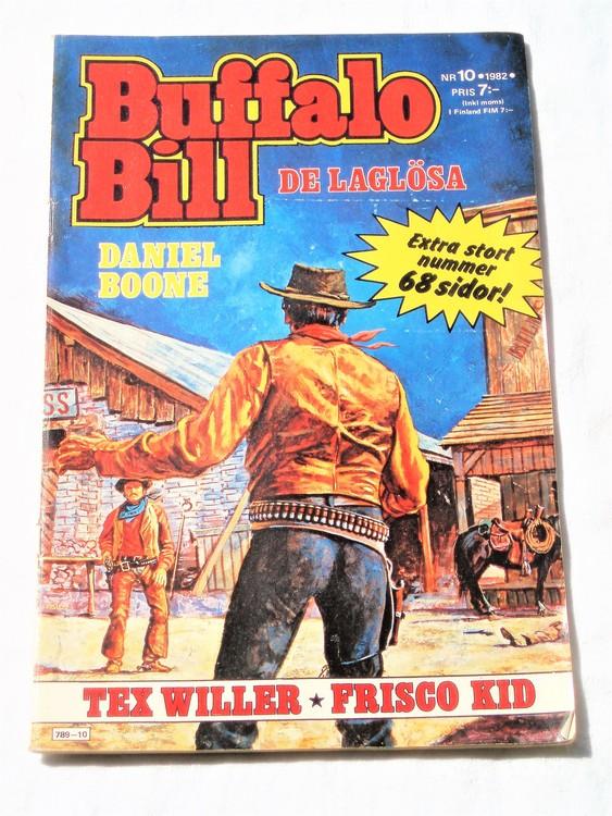 Buffalo Bill nr 10 1982 normalskick, normalslitet