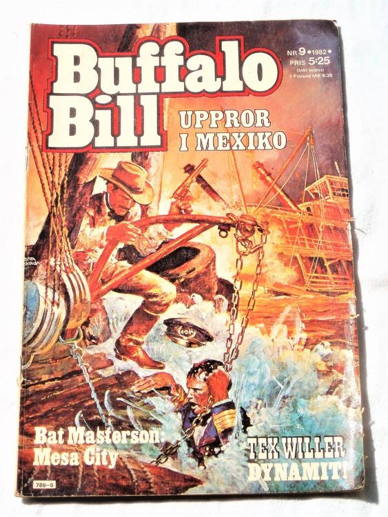 Buffalo Bill nr 9 1982 normalskick, normalslitet