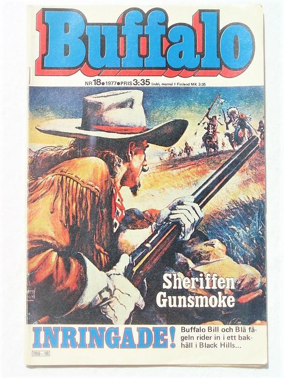 Buffalo Bill nr 18 1977 normalskick, normalslitet,bättre skick
